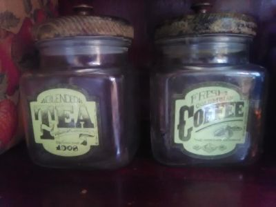 Vintage Coffee and Tea canisters