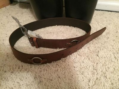 Brown leather belt from Macy s