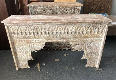 Antique Fireplace Decorative Surround Mantle Console