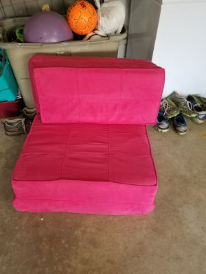 Folding chair/bed pink