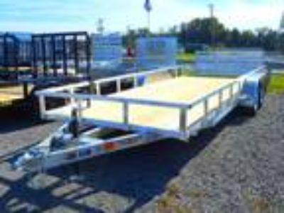 2019 H and H Trailer 82x20 Tandem Axle Railside Aluminum