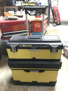 Stanley stacking toolbox FULL of tools, stuff