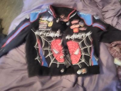 Youth leather Spiderman jacket