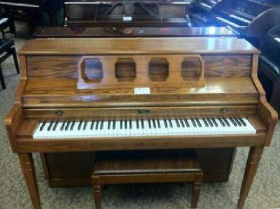 Kimball Oak Console w/ bench