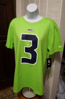 RUSSELL WILSON #3 - Nike Player Pride Neon T-Shirt (Women's Large) *** NEW ***