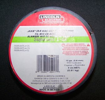 MIG Welding Wire - 99% FULL ROLL! Lincoln Electric 2-lb 0.025-in All Positions