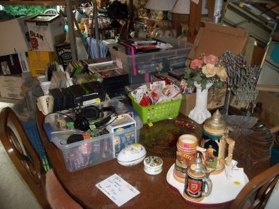 GARAGE FULL OF VERY NICE FURNITURE AND SMALL ITEMS NO SINGLE SALES