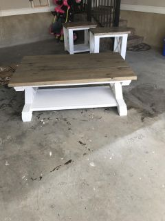 Coffee table and end tables-sold separately