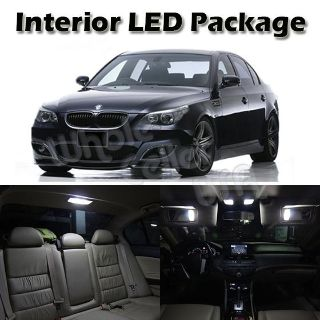 Buy 15x White LED Interior Lights Package for BMW E60 4dr 2004-2010 Error Free Lamps motorcycle in Cupertino, CA, US, for US $36.99