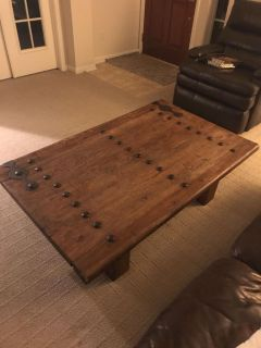 Reclaimed wood table. Gorgeous! Originally paid $1100