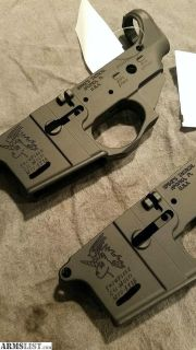 "For Sale: Spike's Tactical ""Snowflake"" stripped AR15 lower receivers"