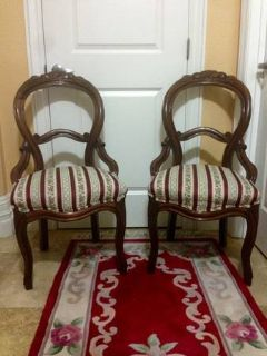 Pair Victorian Parlor Chairs