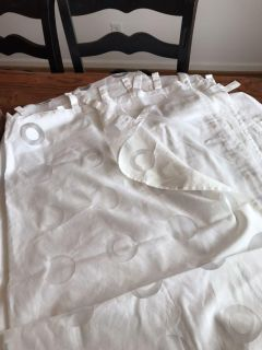 Set of white curtains