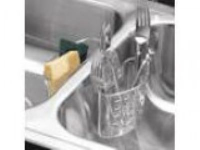 InterDesign Kitchen Sink Protector Flatware Organizer and Sponge