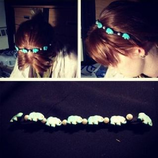 $18 Kaitlyn's Handmade Jewelry; Elephant Headband