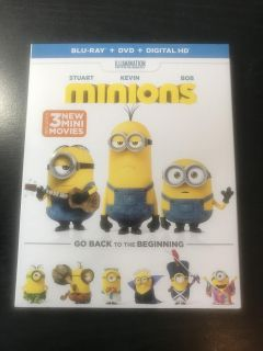 Minions Movie Blu-Ray and DVD