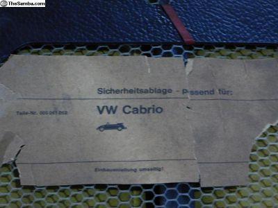 NOS Cabrio Parcel Tray Convertible Parcel Shelf