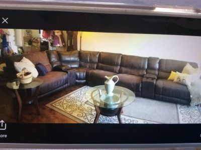 Living room Leather Sectional Set and Electric Recliner