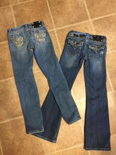 Girls size 10 Miss Me jeans (2 pairs)