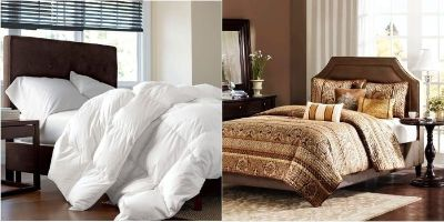 2 Comforters & One w/Bed Skirt