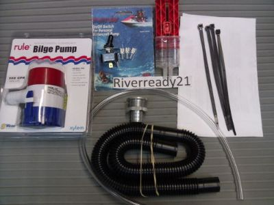 Sell PWC Sea-Doo Wave-Runner Jet-Ski Universal Bilge Pump Kit Rule 500 gph In Stock motorcycle in Menifee, California, United States, for US $94.95