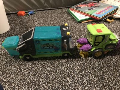 The Trash Pack garbage truck and Street Sweeper. $10 for both