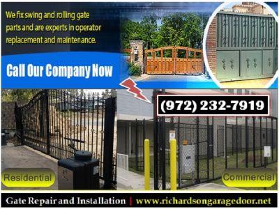 Providing only on starting $26.95 | Gate Opener Repair in Richardson, TX