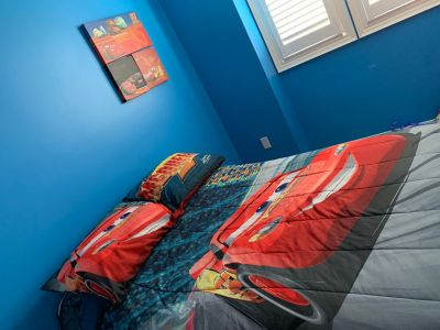 Double Bed Cars Set including wall art
