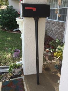Black Architectural Mailbox and standard pole