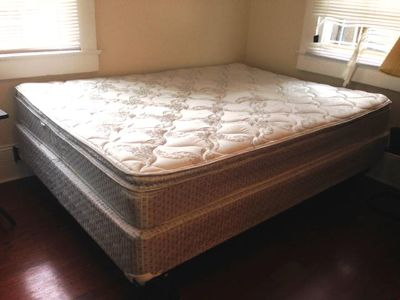 $250, Quality Queen Bed Mattress, Boxspring, Frame For Sale