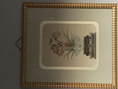 Large, framed botanical artwork