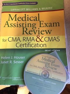 Medical Assistant study book for certification