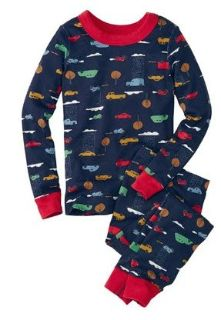 NWT in Bag Size 6-7 Boys Hanna Andersson Organic Soft Long Johns Pjs