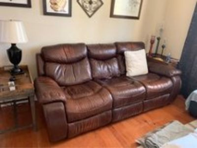 Havertys Leather Recliner Sofa