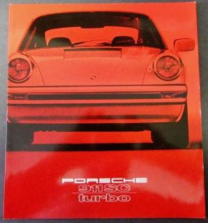 Buy 1979 Porsche Dealer Prestige Sales Brochure Original 911 SC Turbo motorcycle in Holts Summit, Missouri, United States, for US $49.79