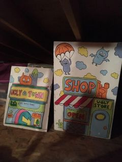 Handpainted Ugly Doll Wood Panel Decorations