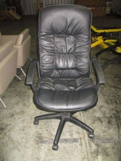 Black Leather Executive Office Chair RTR#7064906-02