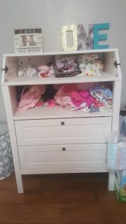 Ikea diaper changing table dresser