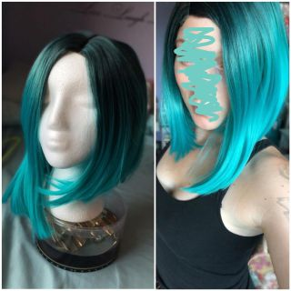 Blue ombr wig
