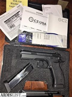 For Sale/Trade: CZ 75 SP-01 TACTICAL 9mm TRUGLO Night Sights Comp Tac Holster & 5 Magazines!