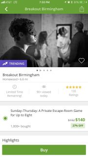 Breakout Birmingham Eight Person Groupon