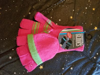 Pink & green convertible gloves (see description) NWT