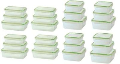 Clivk and lock rectangular or square storage containers