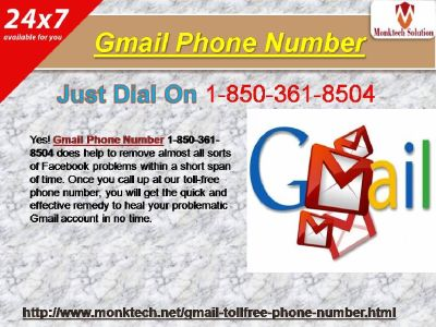 Gmail Phone Number to Change the Security Questions 1-850-361-8504