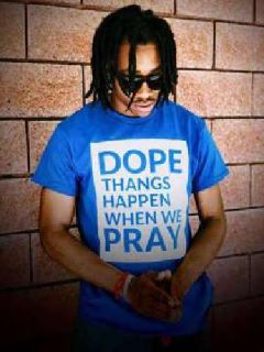 Dope Things Happen when you pray Custom Shirt By Curtis Grinderson Collection