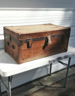 BARN FIND! Holden Trunk & Bag Co. 1920 Luggage Trunk