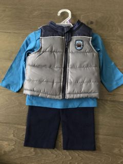 Healthtex outfit New! Pants, shirt, and vest 12 months