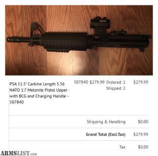 For Sale: AR15 Pistol upper
