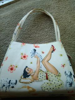 Purse with matching make-up bag