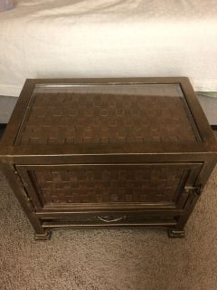 Unique metal end table/nightstand
